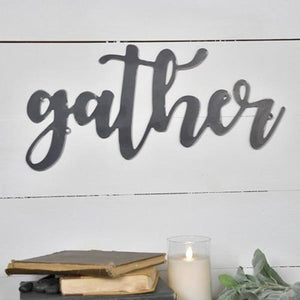Metal Gather Word Art