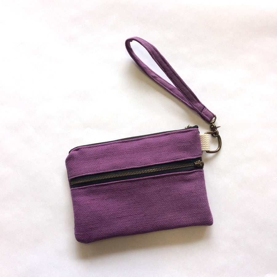 Casual Clutch Purple Linen
