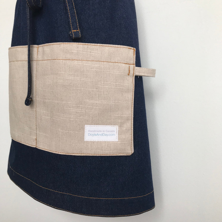 The Denim Linen Apron Combo