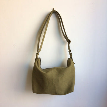 Avocado Linen Crossbody Large Size