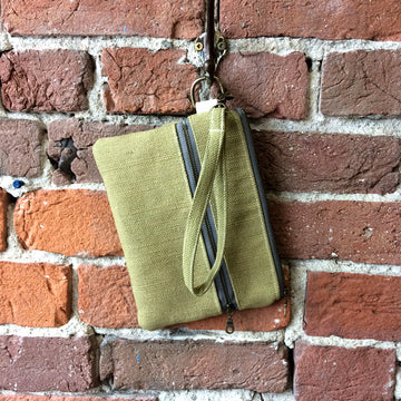 Casual Clutch Avocado Linen