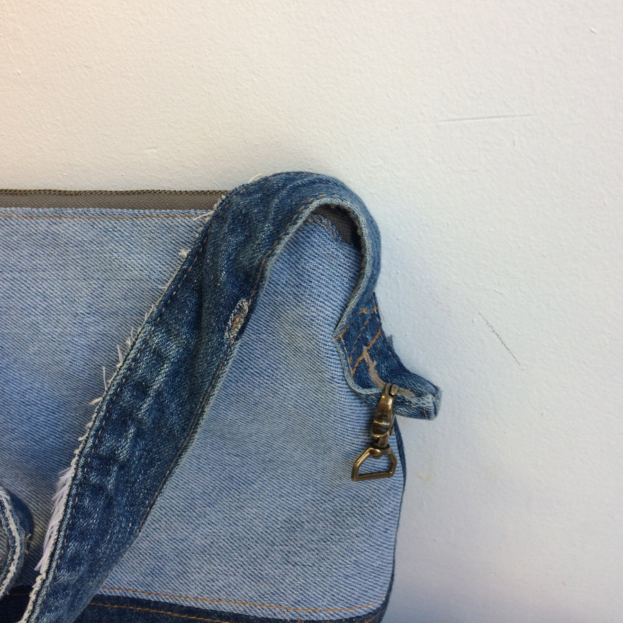 Two Tone Denim Crossbody Bag