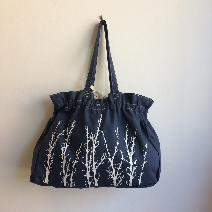 Slate Blue Everyday Bag Pussy Willows