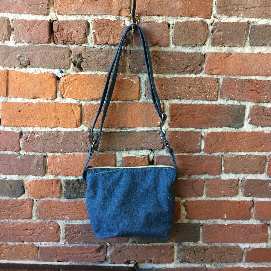 Jean Pocket Denim Crossbody Bag
