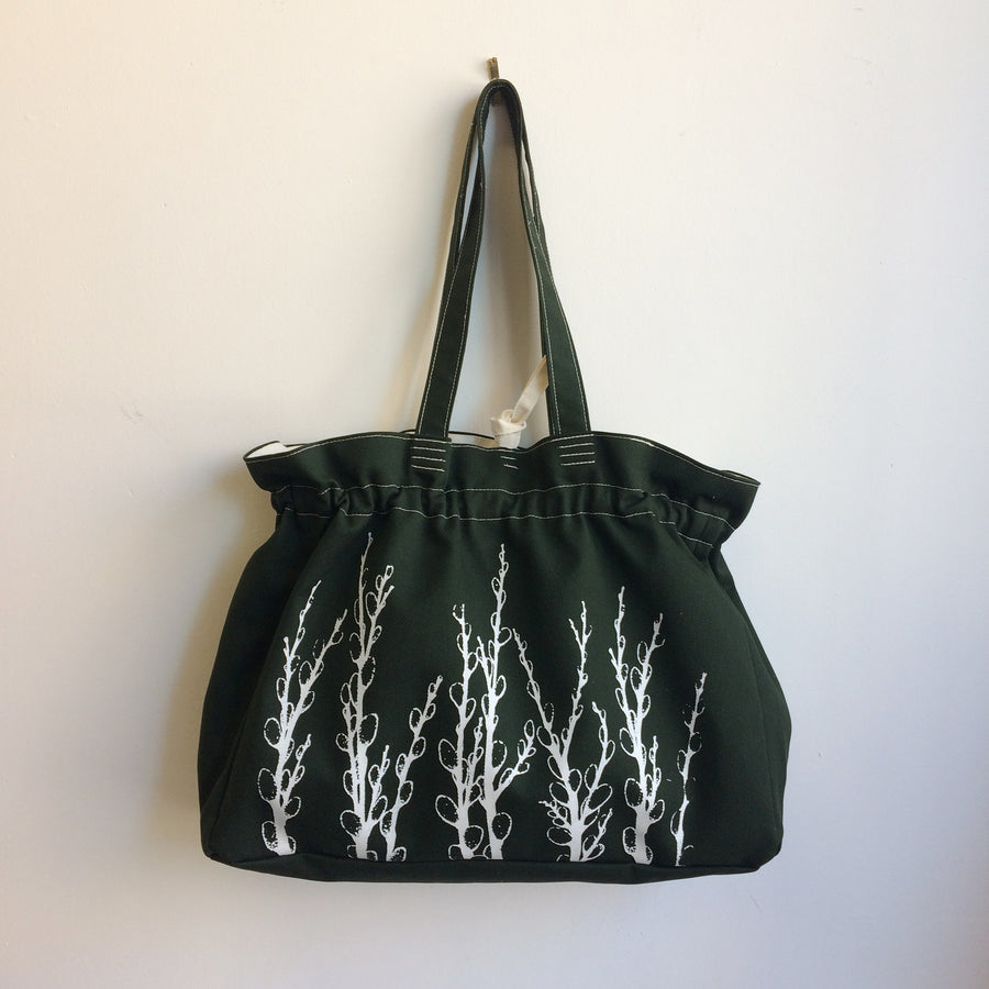 Forest Green Everyday Bag Pussy Willows