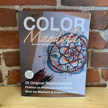 Color Mandala - 25 page adult coloring book - Not your Grandma's Mandala