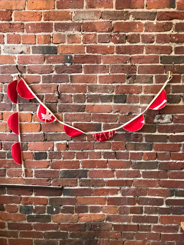 Fabric Bunting in Red