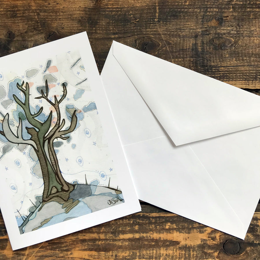 Enokitake Mushooms Greeting Card