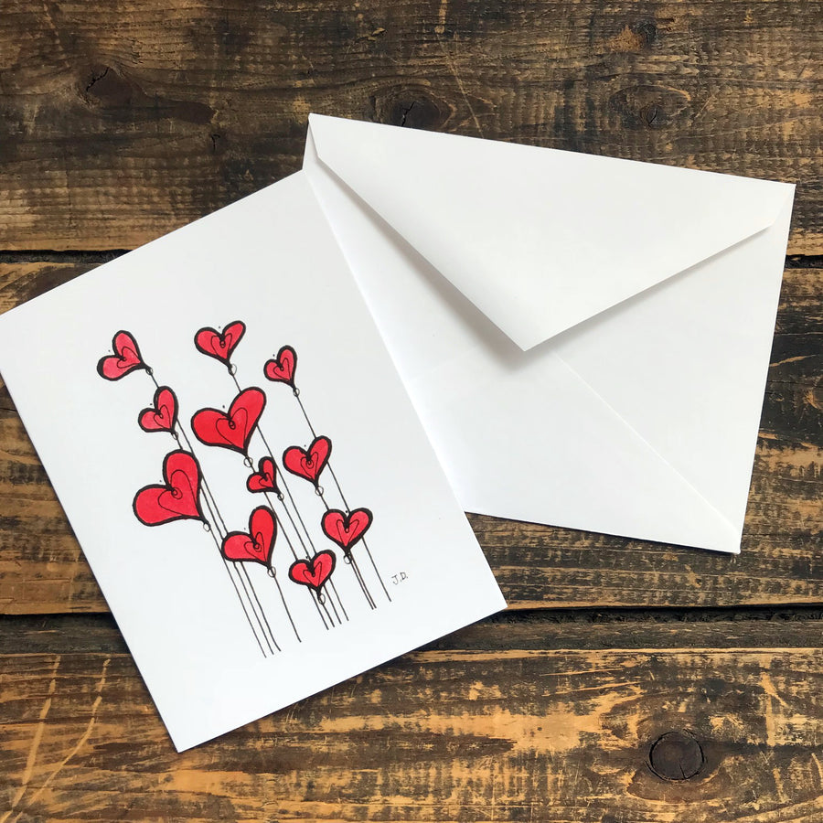 The Flamboyant Heart Note Card