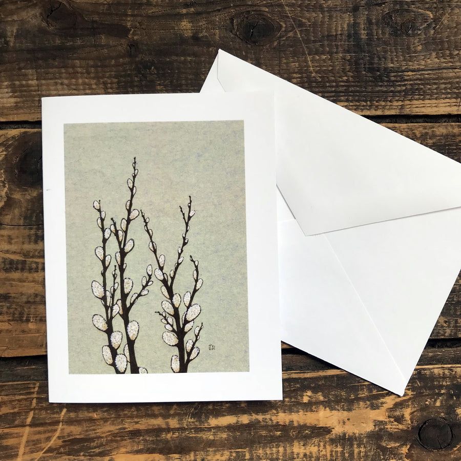 Spring Pussy Willows Note Card
