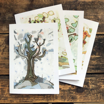 Four Seasons Greeting Card Set