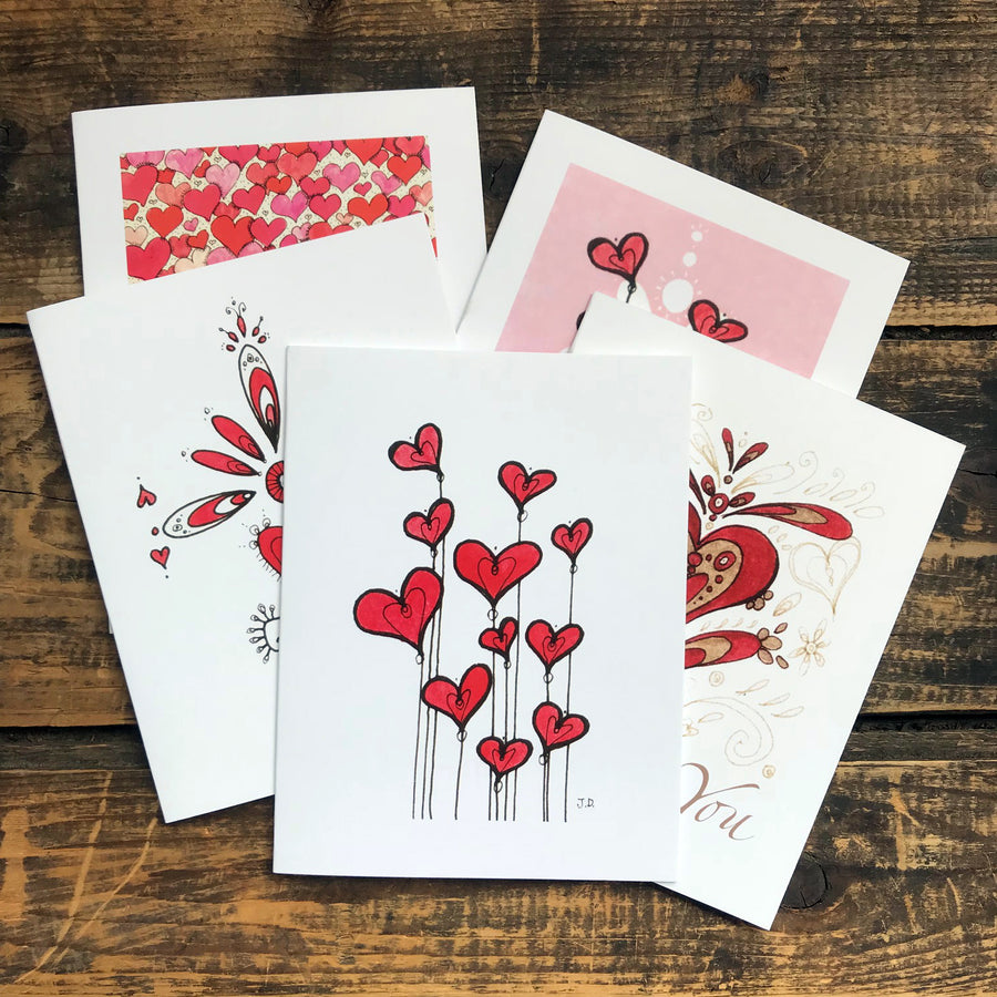 Hearts Collection Note Card Set