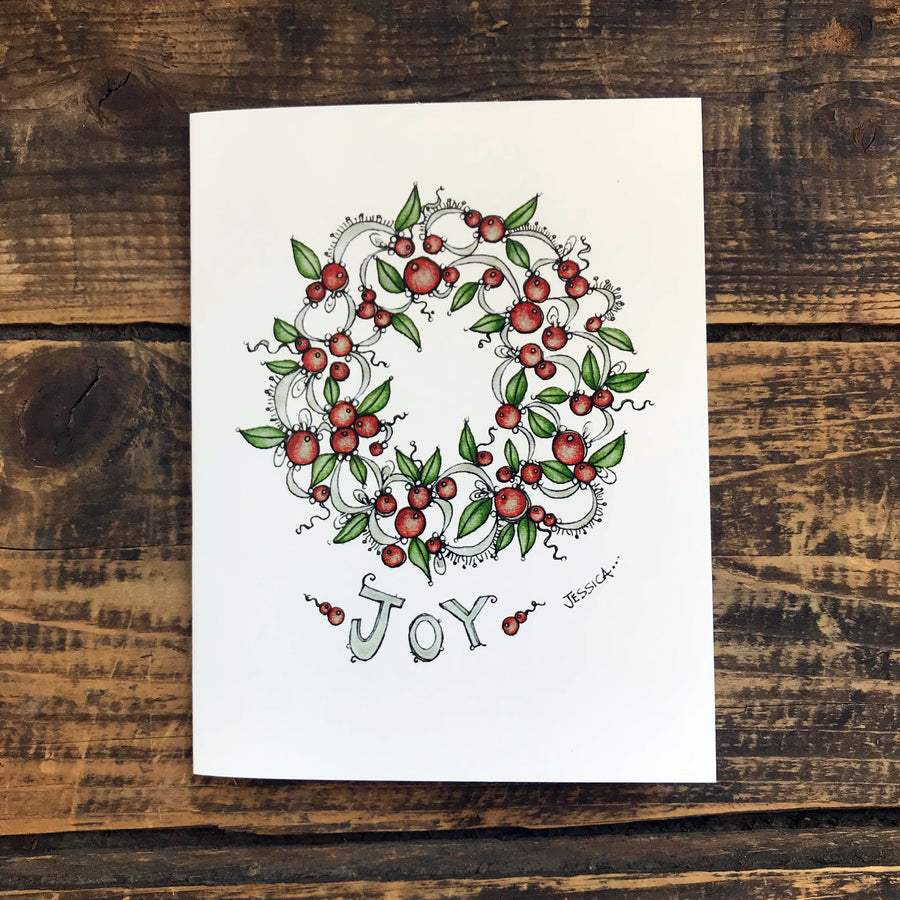 Wreath of Joy Note Card