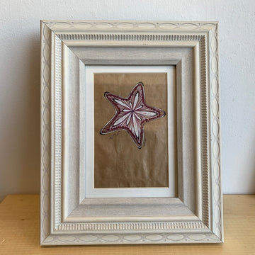 Starfish Original Drawing Framed Wall Art OOAK