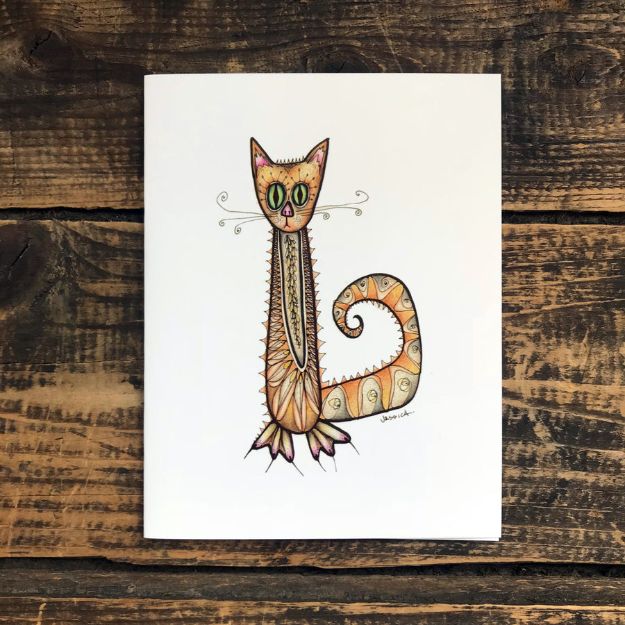 Little Orange Note Card