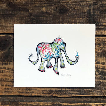 Martha the Elephant Note Card