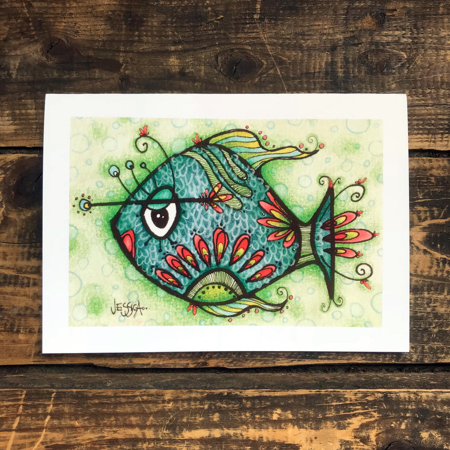 Milton the Fish Greeting Card
