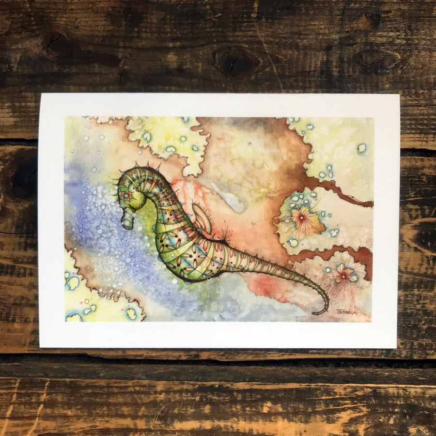 The Sultry Seahorse Greeting Card