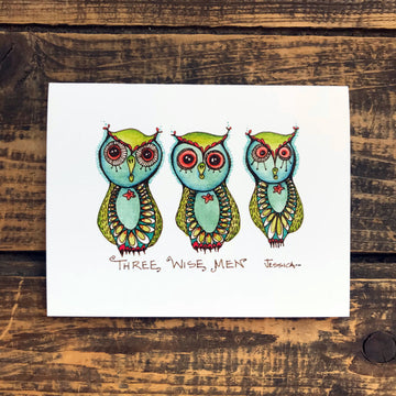 Three Wise Men Note Card