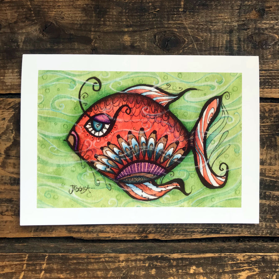 Annabelle the Fish Greeting Card