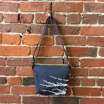 Slate Blue Crossbody Pussy Willows