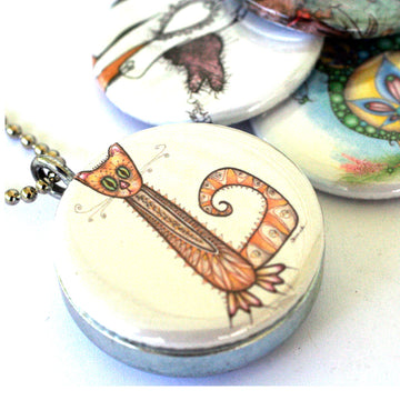 Locket Set - Cats & Bird