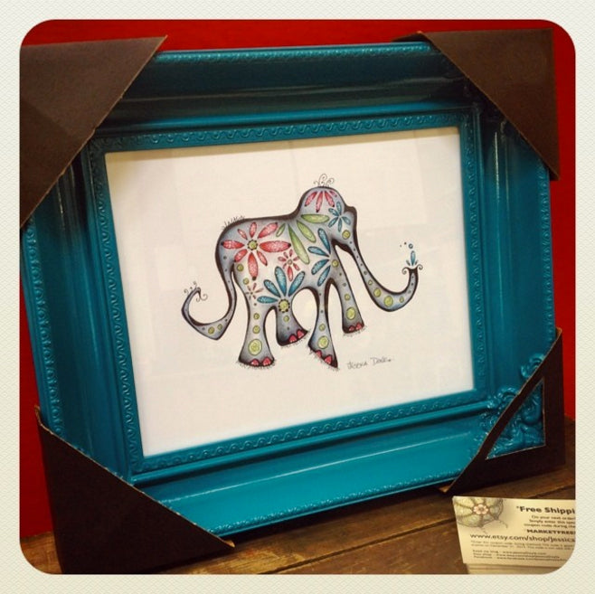 Martha the Elephant Print