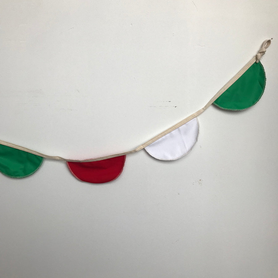 Fabric Bunting Red, Green and White