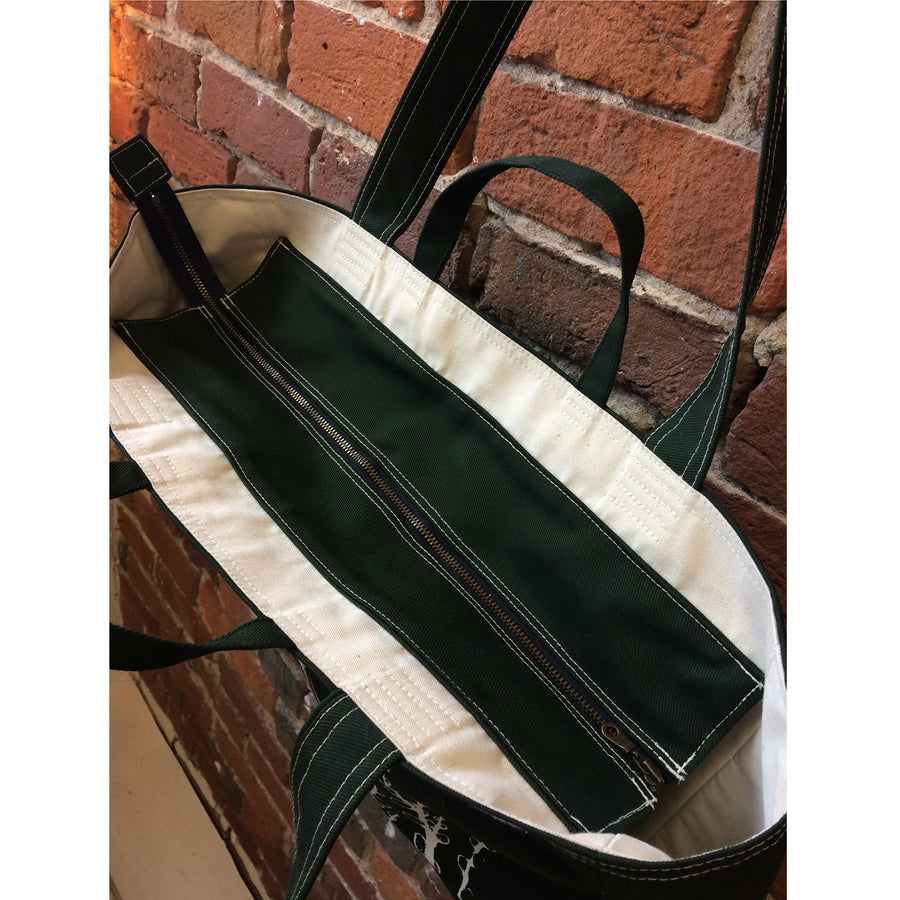 Forest Green Weekender Bag Pussy Willows