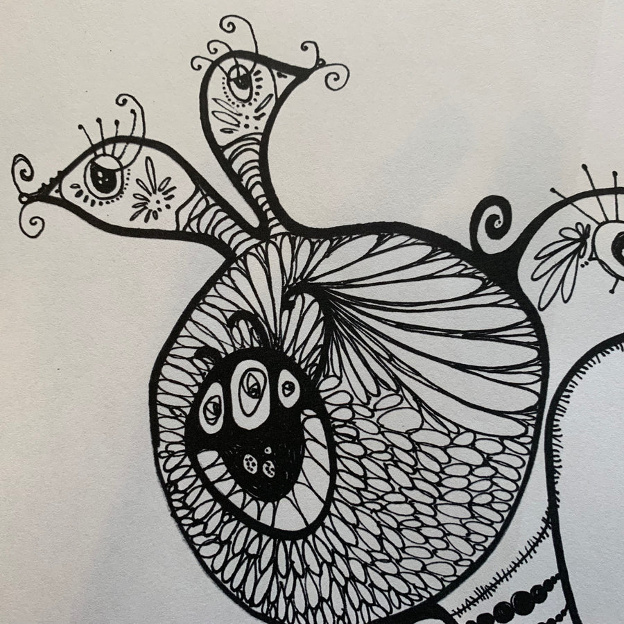 Conjoined Twins Printable Colouring Page for Adults PDF Printable art