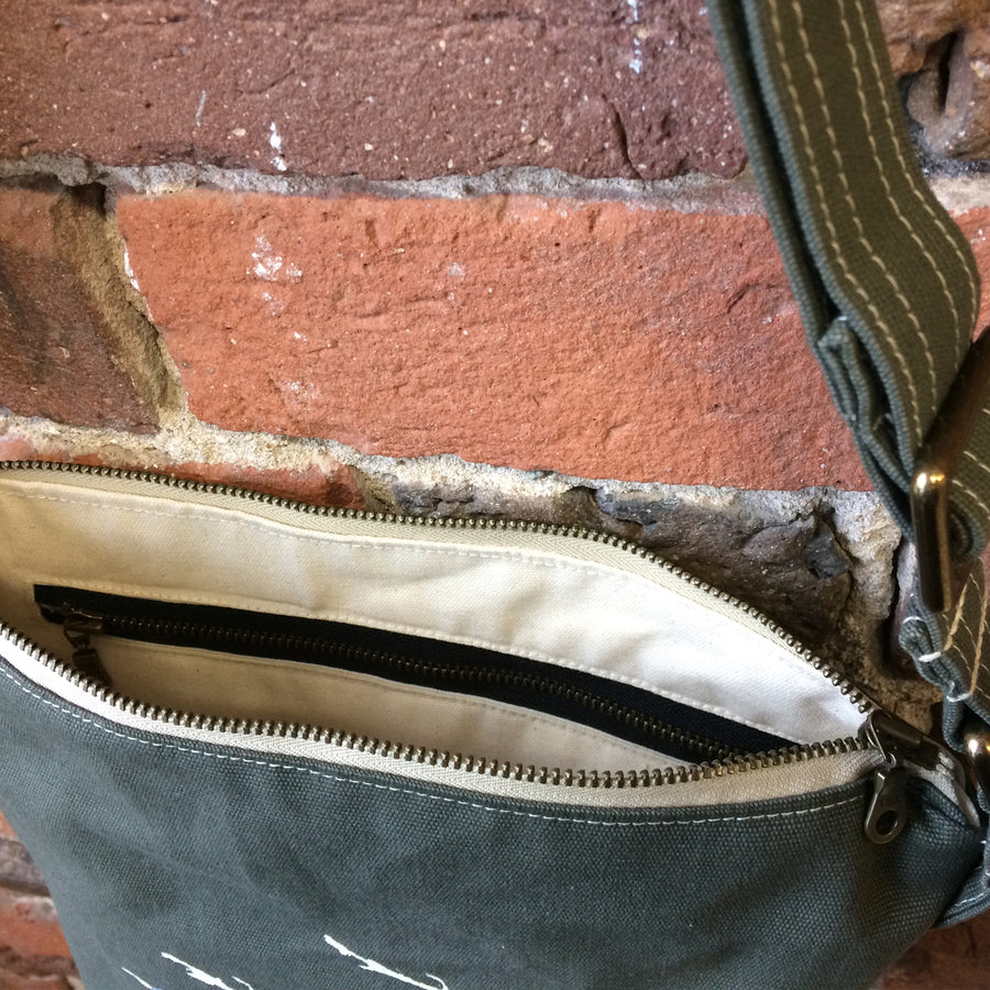 Olive Green Crossbody Pussy Willows