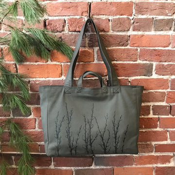 Olive Weekender Bag Pussy Willows
