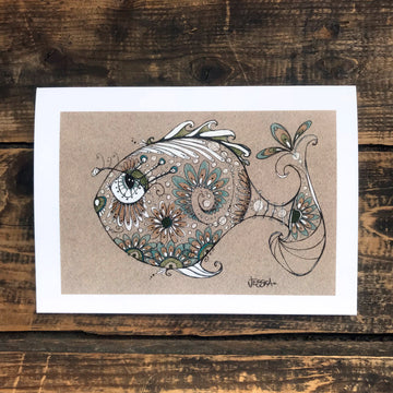 George - yes, he's a pretty fish Greeting Card