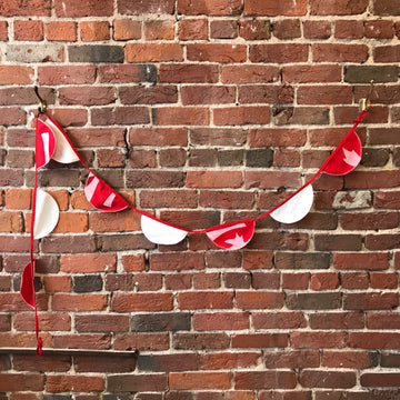 Fabric Bunting Red and White