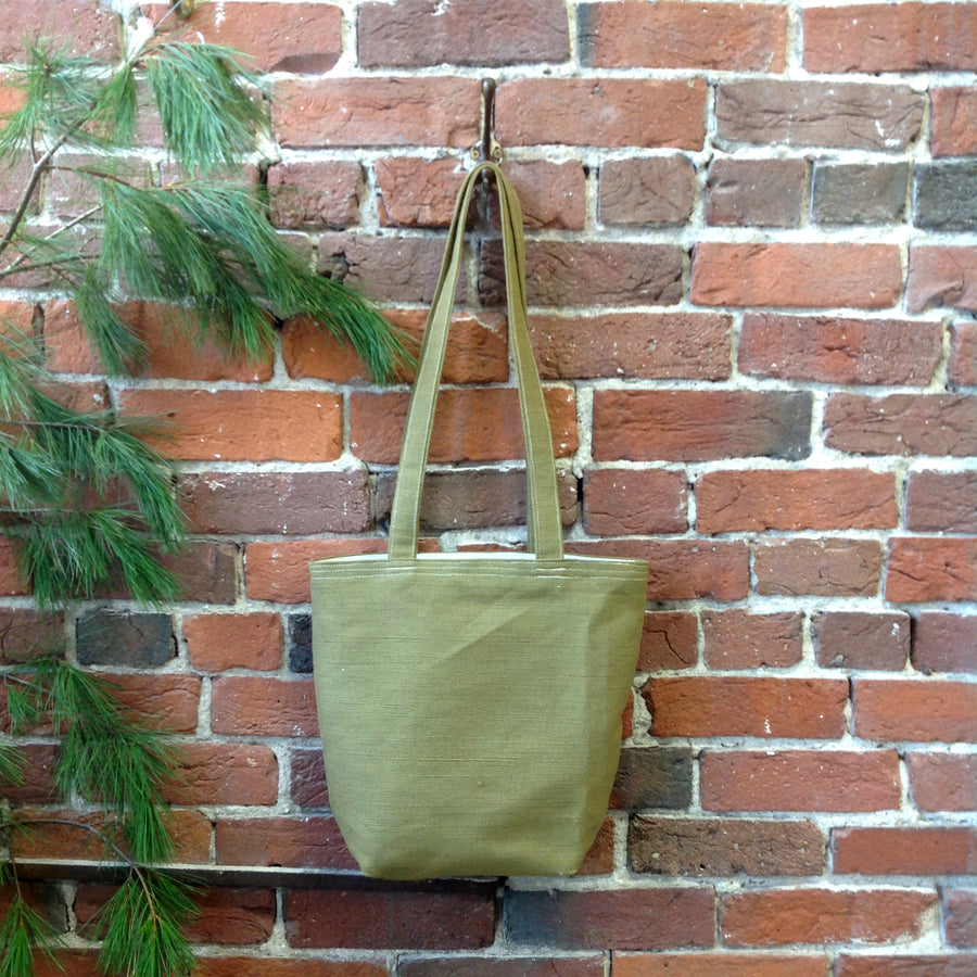 Avocado Linen Tote Bag
