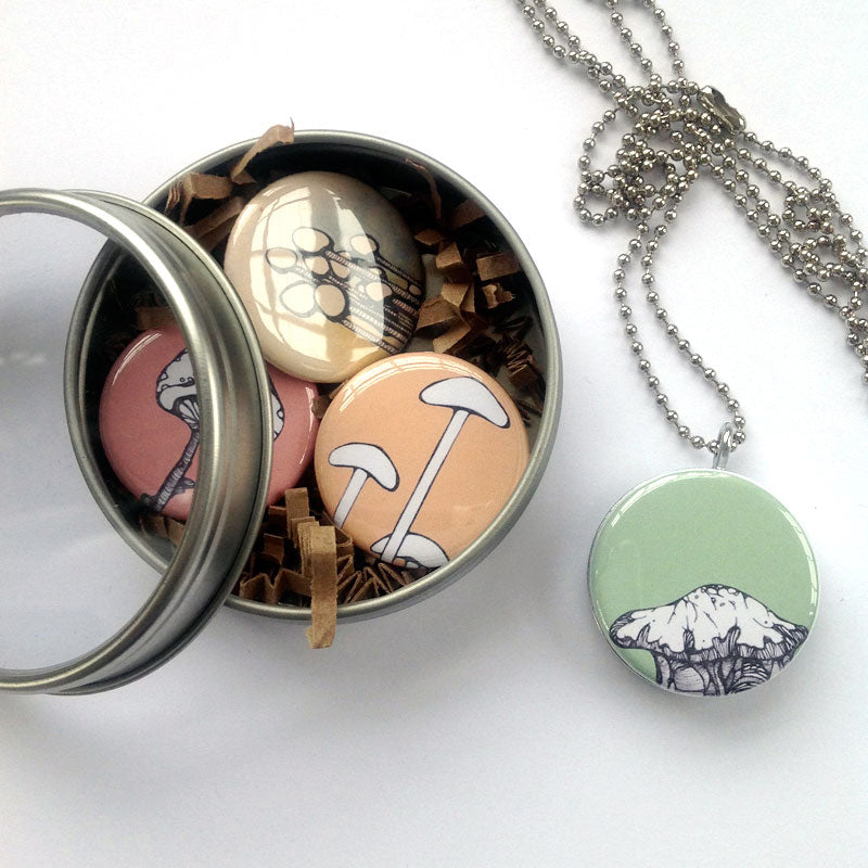 Locket Set - Mushrooms