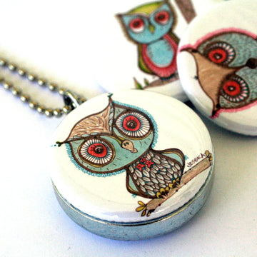 Locket Set - Owls