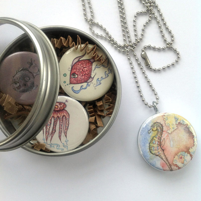 Locket Set - Beachy Beach Beach