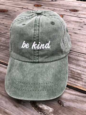 Be Kind Hat  - Spruce Green