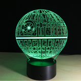3D LED Star Wars Death Star Night Light Touch Switch Table Lamp 7 Different Color Display