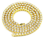 Iced Out Rhinestone Tennis Chain Necklace 20-36 Inches 5mm
