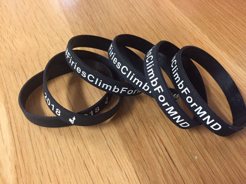 Firefighters Climb for MND Wrist Band