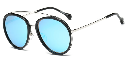 Calvin Polarized Round Fashion Sunglasses - Man Cave Hive