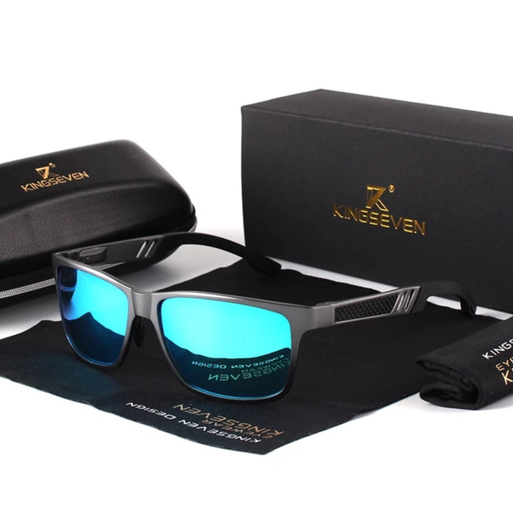 Men KINGSEVEN Polarized Sunglasses With Case And Accessories 4 colors - Man Cave Hive
