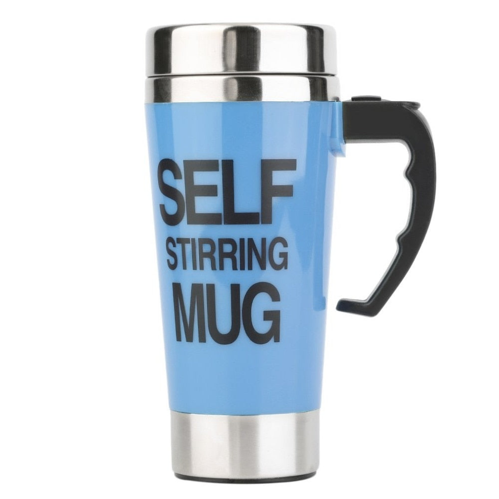 Stainless Steel Self Stirring Mug 350ml - Man Cave Hive