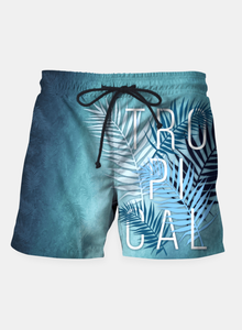 Tropical Typo Shorts - Man Cave Hive