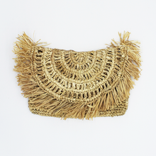Jungle Bird Raffia Clutch