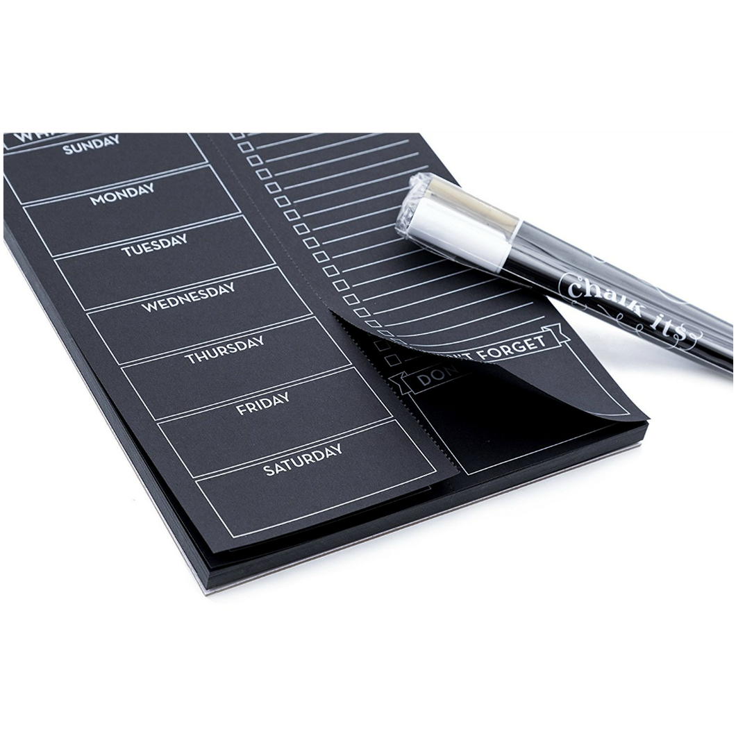 Chalk-Its Magnetic Meal Planning Pad of Paper