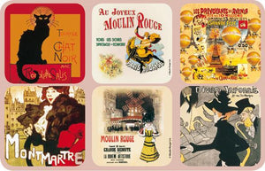 Le Chat Noir French-style Coasters