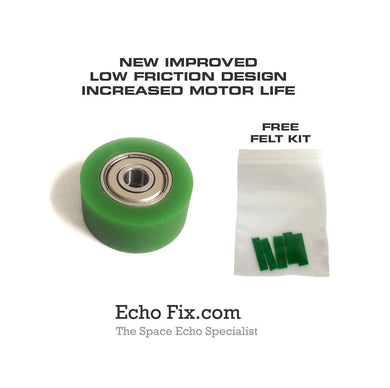 Improved Green Rubber Roller Roland Space Echo Models - RE-101 RE-150 RE-201 RE-301 RE-501 & SRE-555